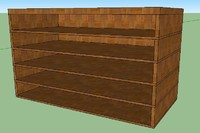 classic bookshelve 3d dwg