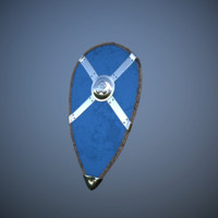 3d model nordic kite shield