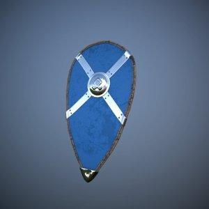 3d model nordic kite shield