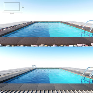 swimming pool 3d model