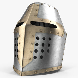 3d topfhelm helmet