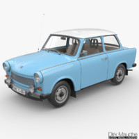 trabant 601s 3d model