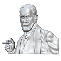 3d model of sigmund freud