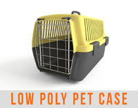 Pet Carry Case Animal Carrier Low Poly