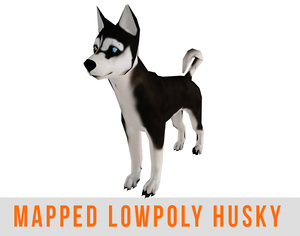 husky ready mapped games 3d max
