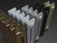 3d model radiator battery