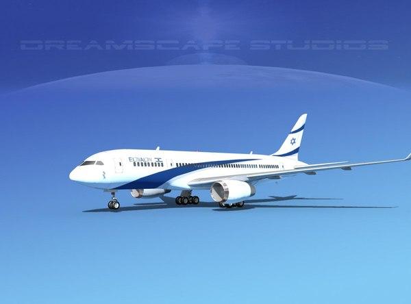 3d airline boeing 787 787-8 model