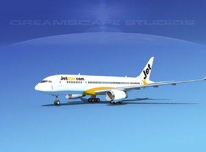 3dsmax airline boeing 787 jet