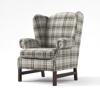 hotner bairon wing chair 3d model
