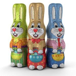 foil easter bunnies 3ds