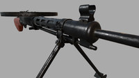 3d model dp-28 machine gun