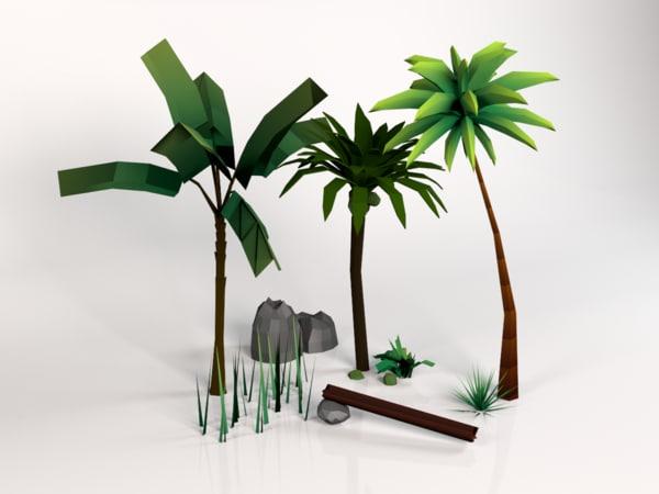 vegetation island 3d max