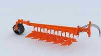 3d plough plow model