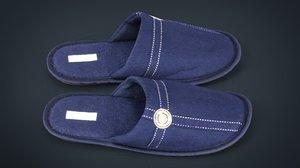house slippers 3d obj
