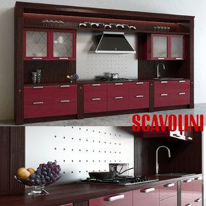scavolini baccarat kitchen red max