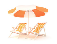 Deck Chairs And Parasol