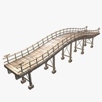 3d wooden bridge