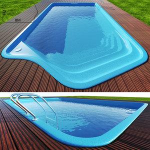 3d swimming pool