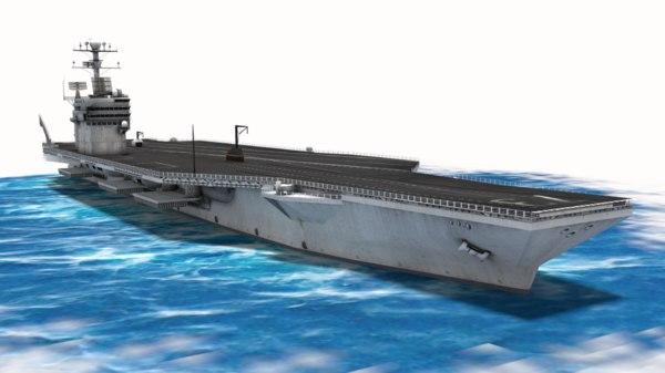 washington aircraft carrier 3d model