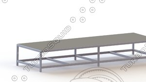 3d model platforms 1200x4000 stainless