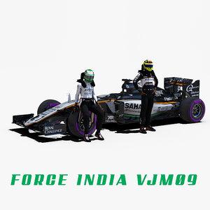 3d model force india vjm09