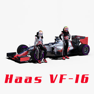 3d model haas vf16