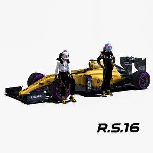 renault rs16 3d max