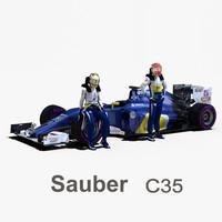 sauber c35 3d 3ds