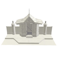 3d model old temple