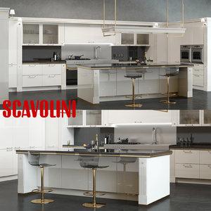 3d scavolini baccarat kitchen