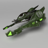 spaceship spacecraft 3d max