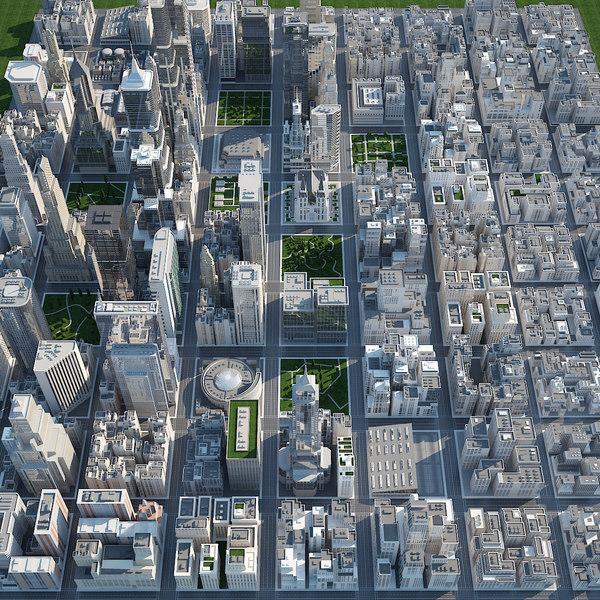 3d - big city scene