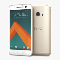 3d htc 10 topaz gold model