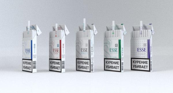 3d model of esse cigarettes