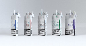 3d model of esse cigarettes