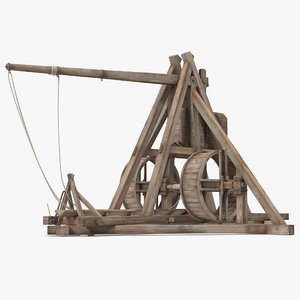 3d medieval trebuchet model