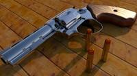 revolver gun 3d c4d