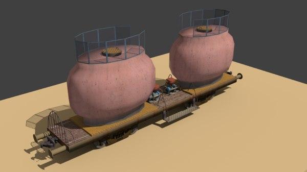 train wagon 3d model