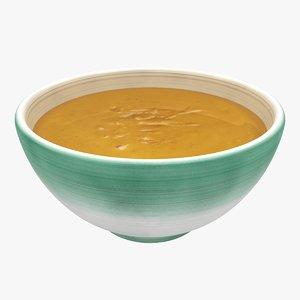 realistic soup 3d model