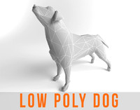 Dog Labrador Retriever Low Poly Game Ready