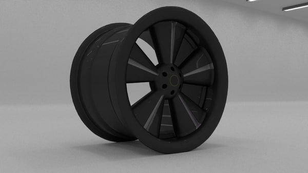3d 3ds vehicle rims modeled