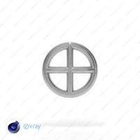 symbol earth 3d c4d