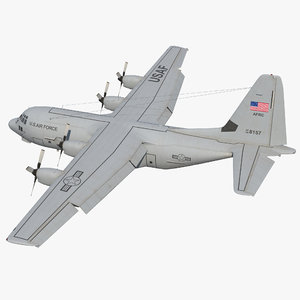 3d lockheed c-130 hercules military transport