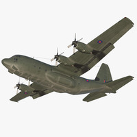 Lockheed Martin Hercules C130K Royal Air Force Rigged 3D Model
