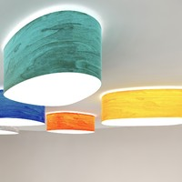 3d luzifer lamps ceiling wall model