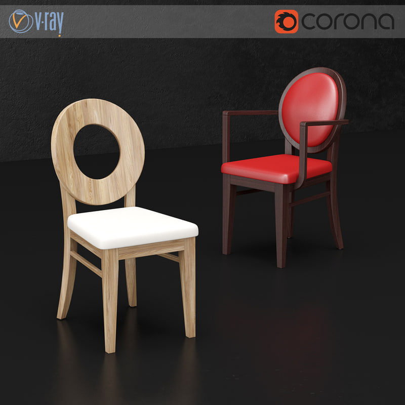 brunetti flo chair 3d model