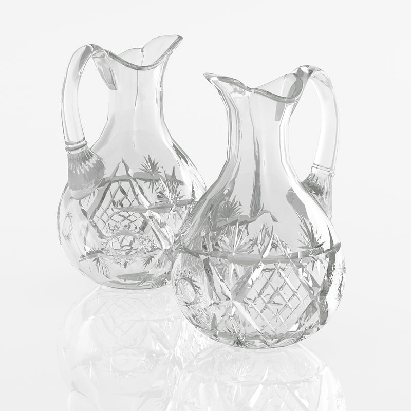cut glass jar 3d max