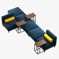 modular sofa arrangements series 3d 3ds