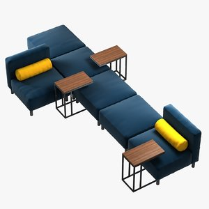 modular sofa arrangements series 3d 3ds