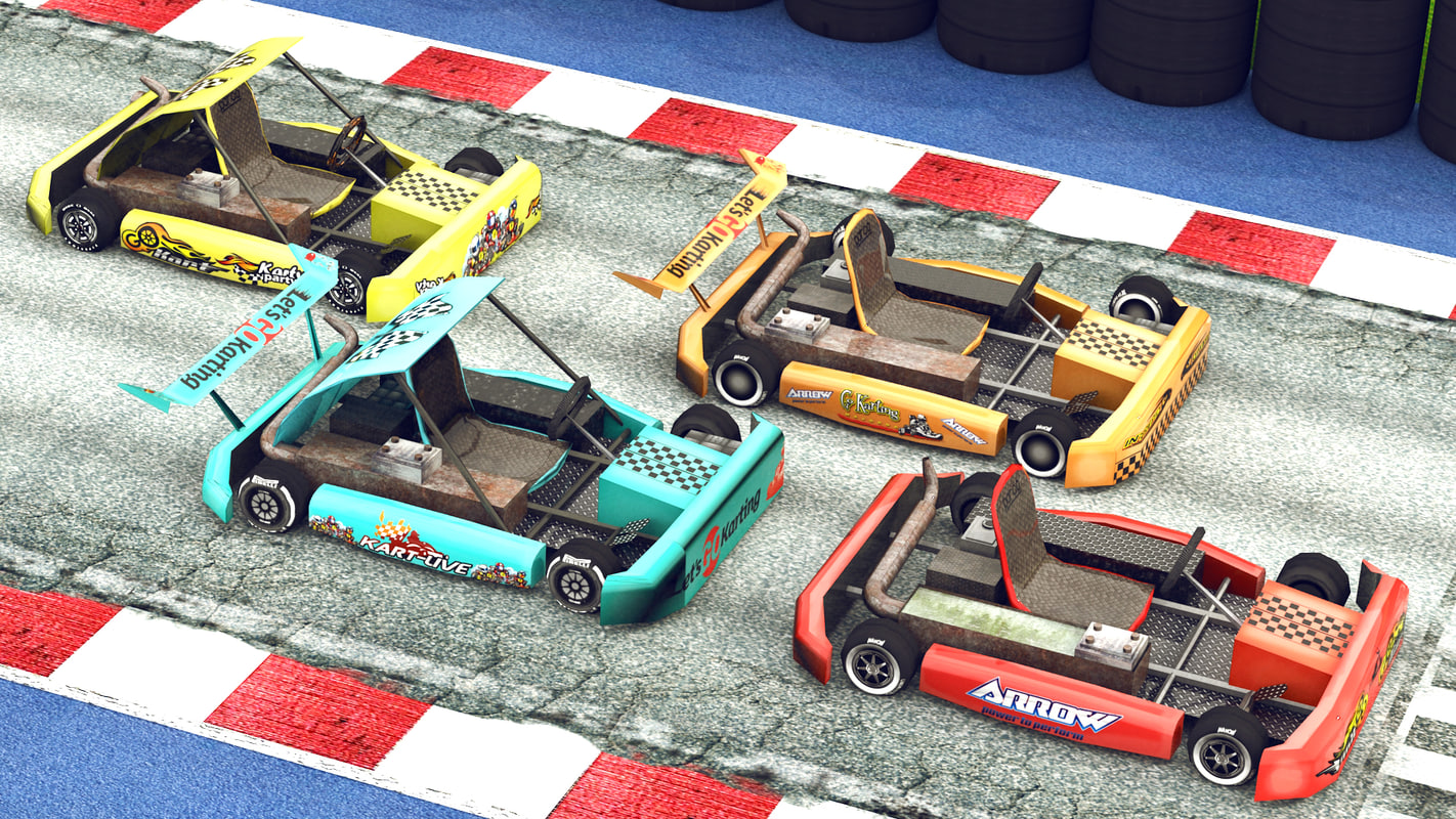3d model gokart pack